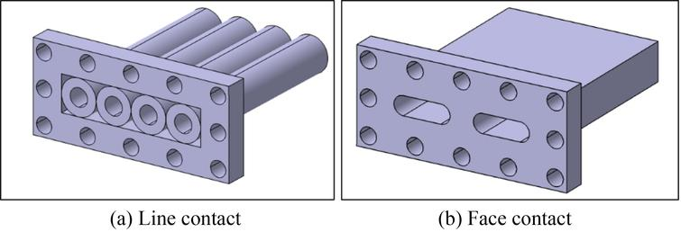 MH module with (a) line contact (Type 1) and (b) face contact (Type 2).