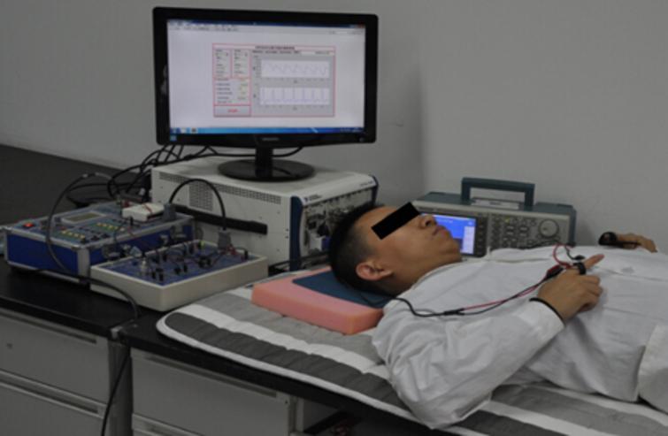 Synchronous pulse wave measurement of volunteers.