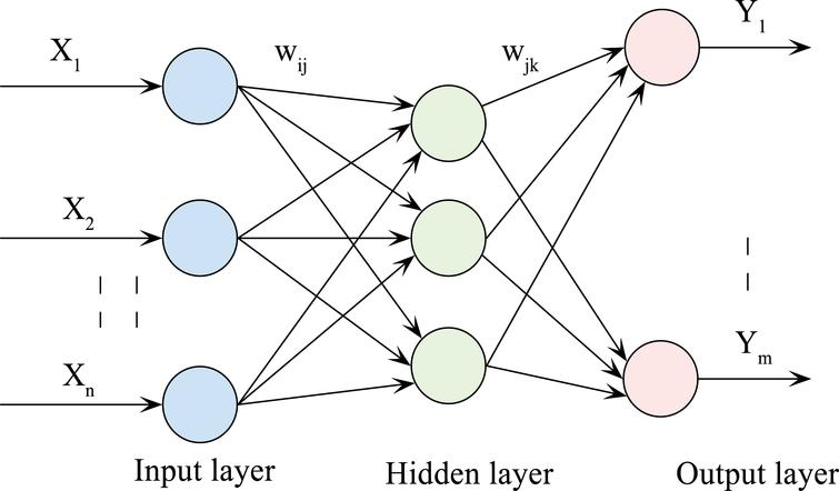 Topology structure of the BP neural network.