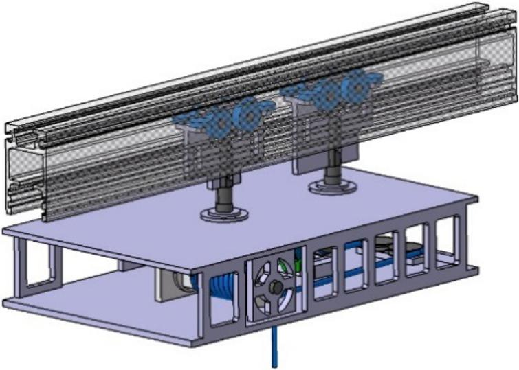 Simplified model apparatus of the rail and the driving part.