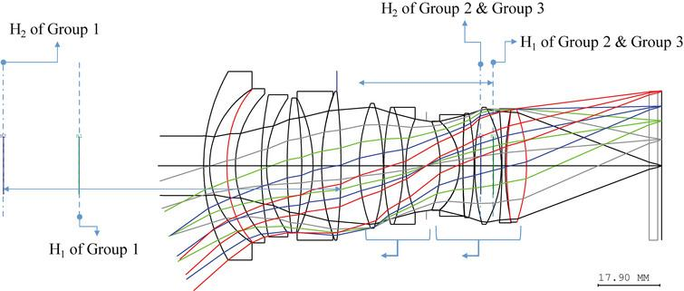 Optical layout for JP2016-012034, Example 1.