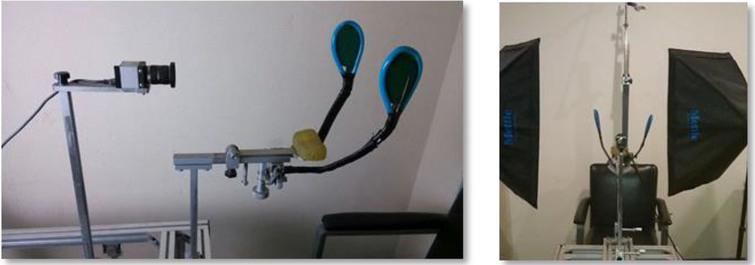 The equipment used for facial paralysis image acquisition.