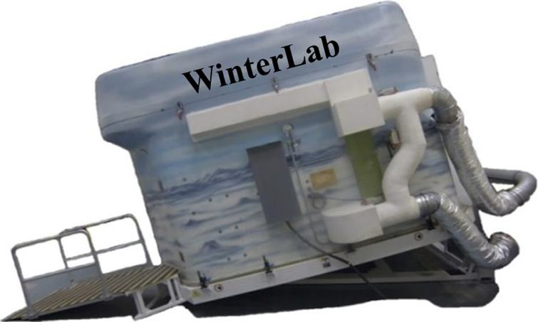WinterLab shown tipped on an angle.
